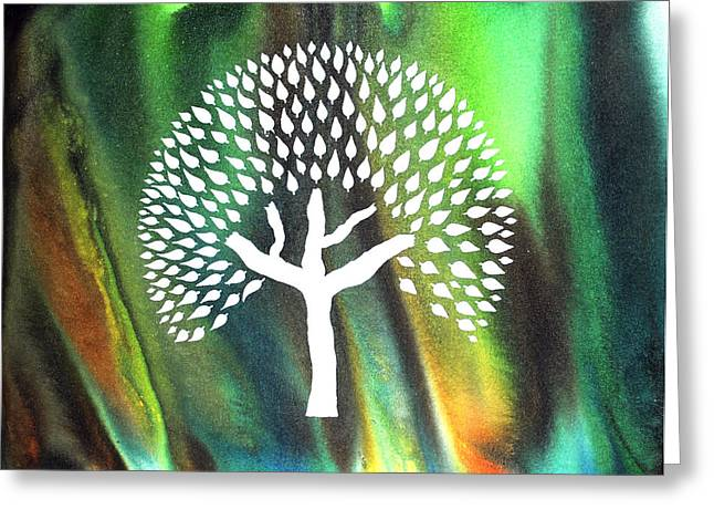 A Tree I Dreamt Of  Greeting Card by Sumit Mehndiratta
