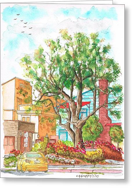 A Tree In Horn Drive - Hollywood Hills - Los Angeles - California Greeting Card