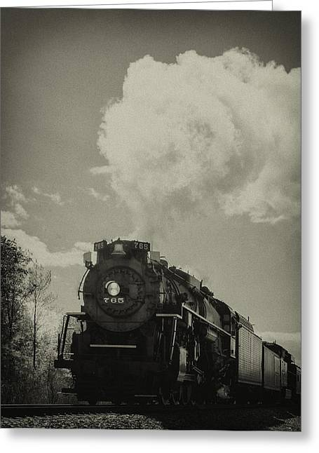 A Trip In The Past-the 765 Steam Locomotive Greeting Card