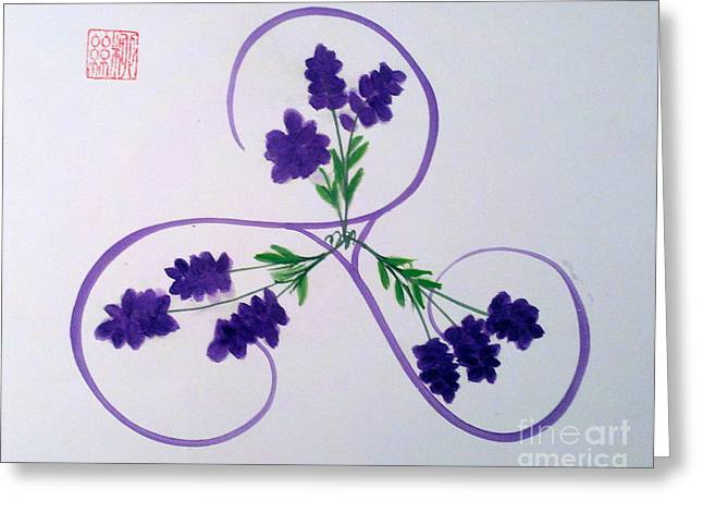 A Triskele Of Lavender Greeting Card
