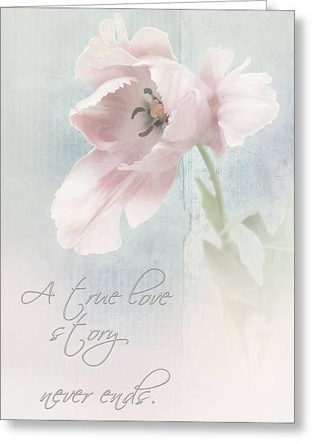 A True Love Story Greeting Card by Bernie  Lee