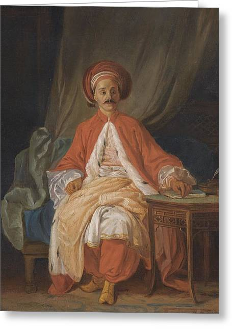 A Turkish Nobleman Greeting Card by Celestial Images
