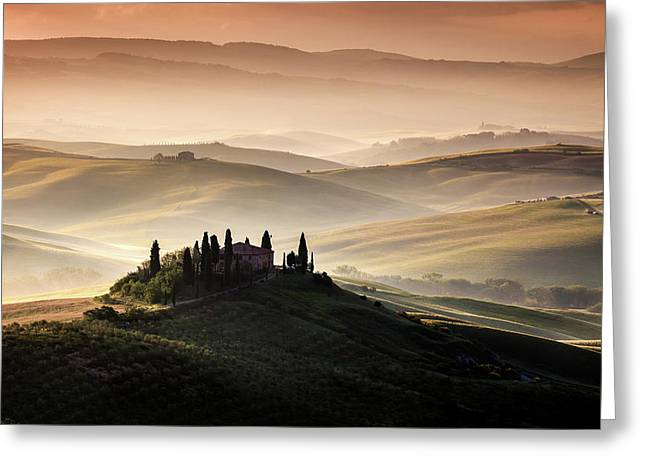 A Tuscan Country Landscape Greeting Card