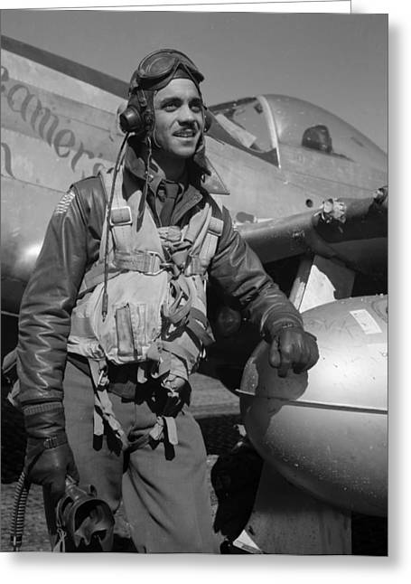A Tuskegee Airman Greeting Card by Mountain Dreams
