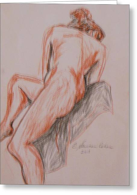 A Twisted Nude Greeting Card