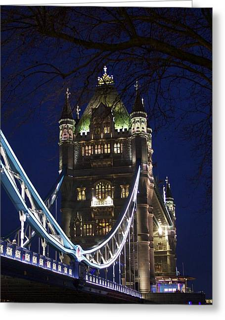 A Unique View Of Tower Bridge  Greeting Card by Jennifer Lamanca Kaufman