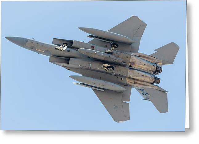 A U.s. Air Force F-15c Eagle Carrying Greeting Card