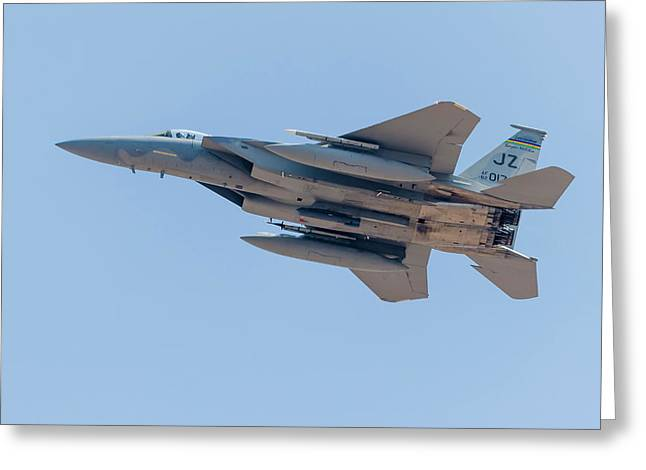 A U.s. Air Force F-15c Eagle Launches Greeting Card