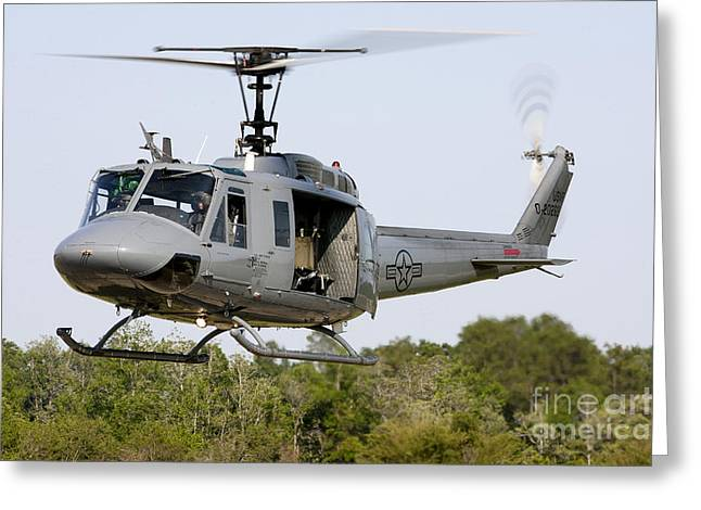 A U.s. Air Force Th-1h Huey II Greeting Card by Erik Roelofs