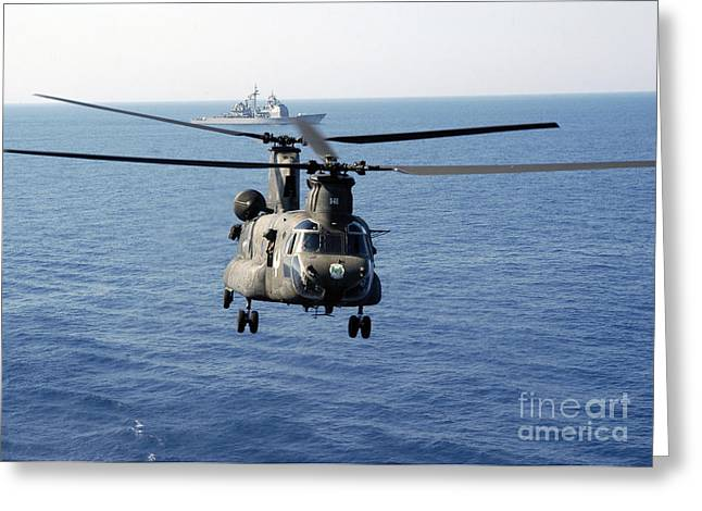 A U.s. Army Mh-47 Chinook Prepares Greeting Card by Stocktrek Images