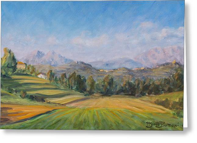 A Valley In Brianza Greeting Card by Marco Busoni