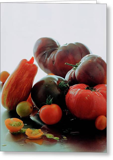 A Variety Of Vegetables Greeting Card