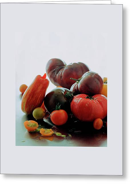 A Variety Of Vegetables Greeting Card by Romulo Yanes