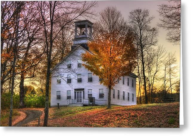 A Vermont Autumn - Woodstock Greeting Card by Joann Vitali