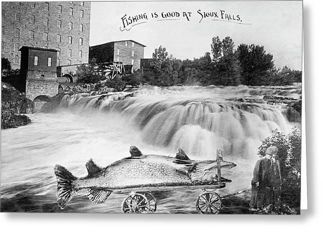 A Very Large Fish Indeed Greeting Card by Underwood Archives