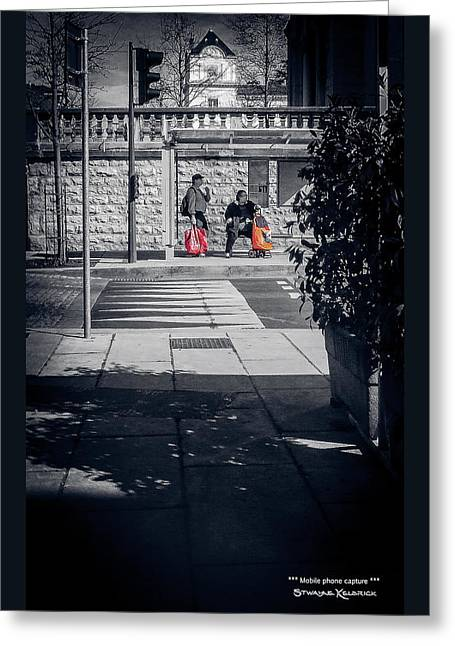 Greeting Card featuring the photograph A Very Long Waiting Day by Stwayne Keubrick