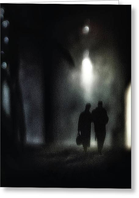 A Very Long Walk Together Greeting Card by Piet Flour