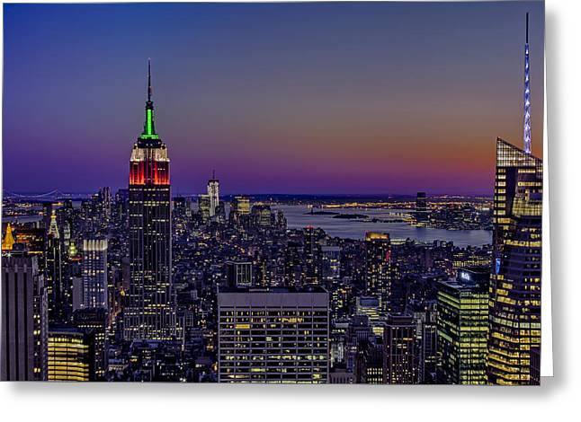 A View From The Top Greeting Card by Susan Candelario