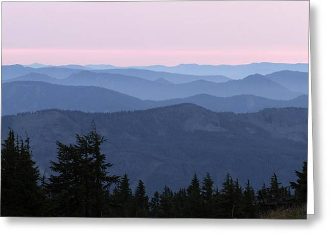 A View From Timberline Greeting Card