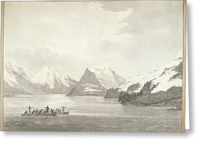 A View In Prince William Sound Greeting Card by British Library