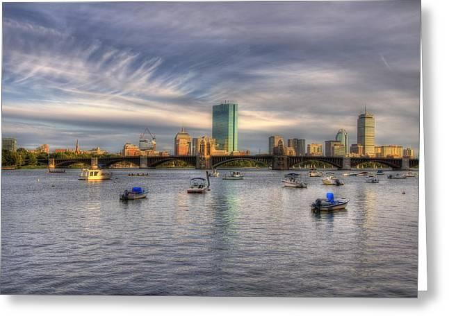 A View Of Back Bay - Boston Skyline Greeting Card by Joann Vitali
