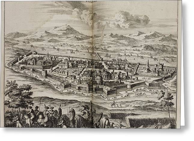 A View Of Baghdad In The 17th Century Greeting Card
