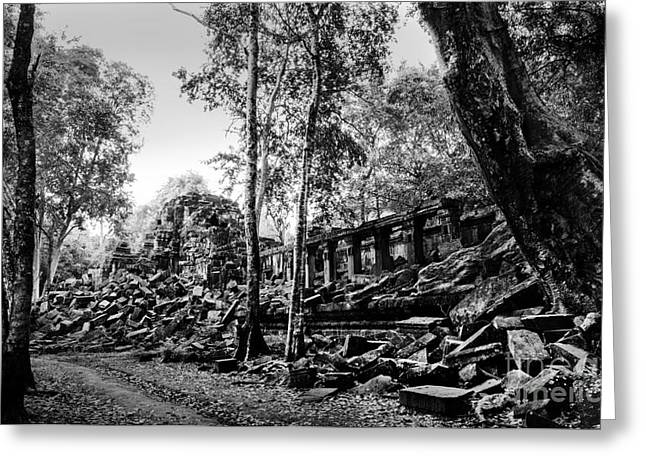 A View Of Beng Mealea Greeting Card