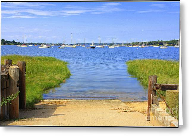 A View Of Oyster Bay Harbor Greeting Card by Dora Sofia Caputo Photographic Art and Design
