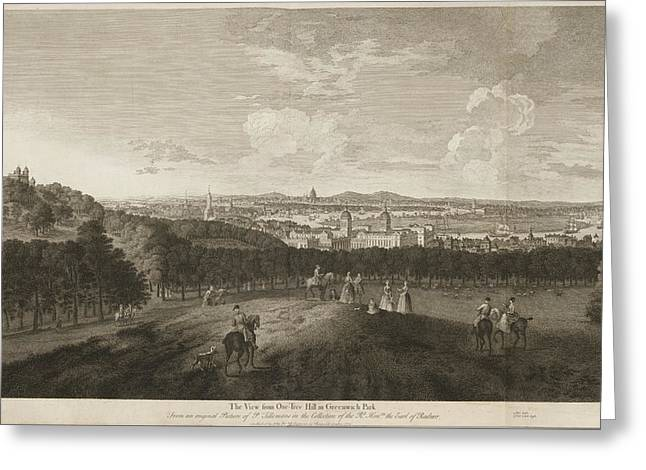 A View Of Greenwich Park Greeting Card by British Library