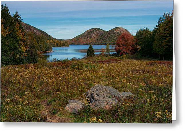 A View Of Jordan Pond Greeting Card
