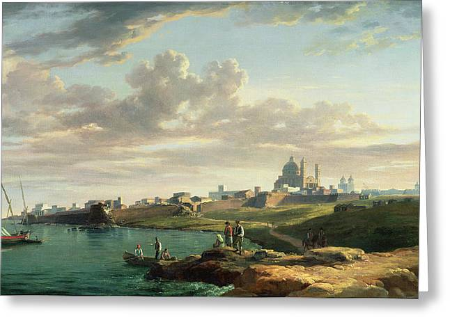 A View Of Montevideo Greeting Card by William Marlow