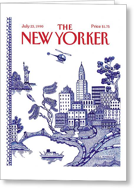 A View Of New York City Greeting Card