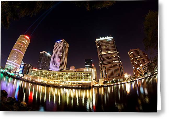 A View Of Tampa And The Hillsborough River Greeting Card