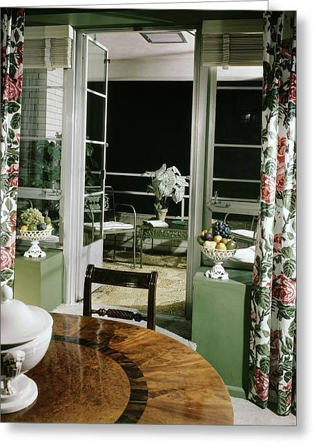 A View Of The Balcony From The Dining Room Greeting Card by Andr? Kert?sz