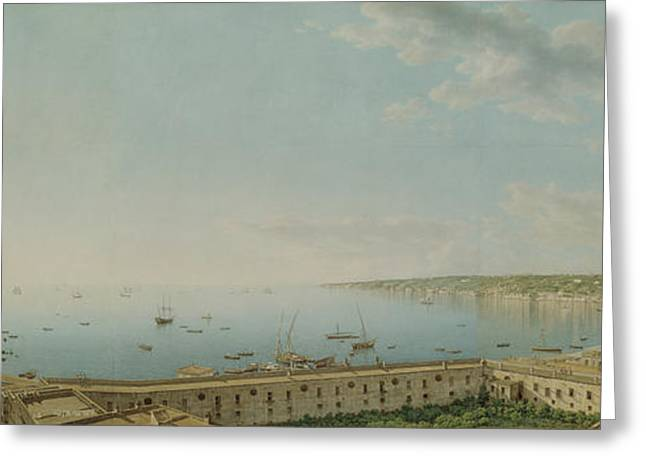 A View Of The Bay Of Naples, Looking Southwest Greeting Card