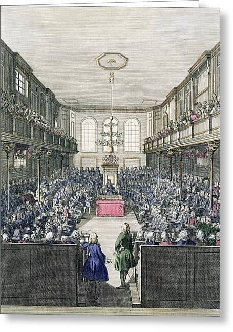 A View Of The House Of Commons Greeting Card