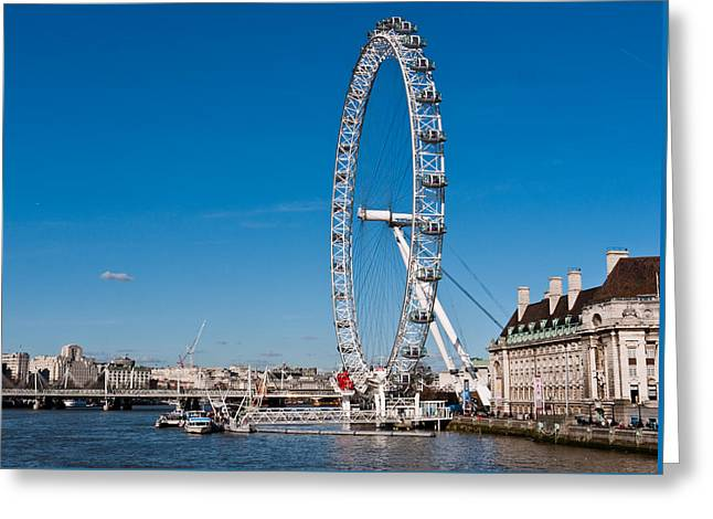 A View Of The London Eye Greeting Card