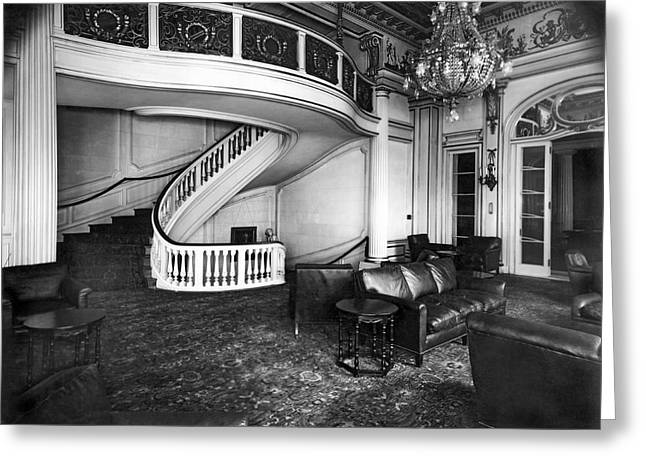 A View Of The Lounge Room At The New Home Of The National Democr Greeting Card by Underwood Archives