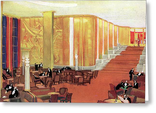 A View Of The Luxurious And Spacious Greeting Card by Mary Evans Picture Library