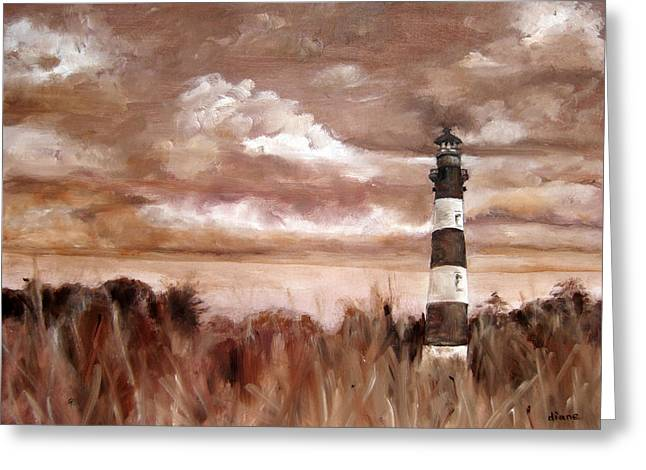 A View Of The Outer Banks Greeting Card by Diane Kraudelt