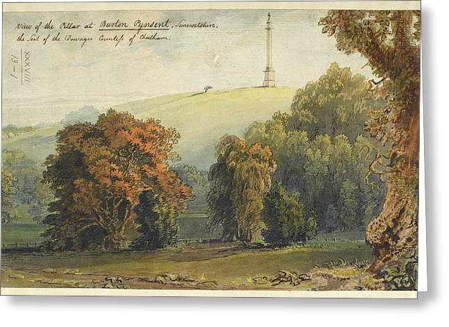 A View Of The Pillar At Burton Pynsent Greeting Card