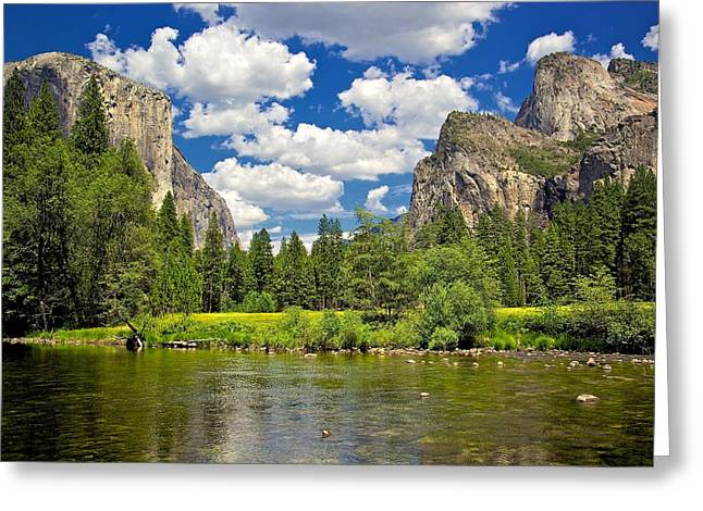 A View Of Yosemite Greeting Card by Joe Urbz
