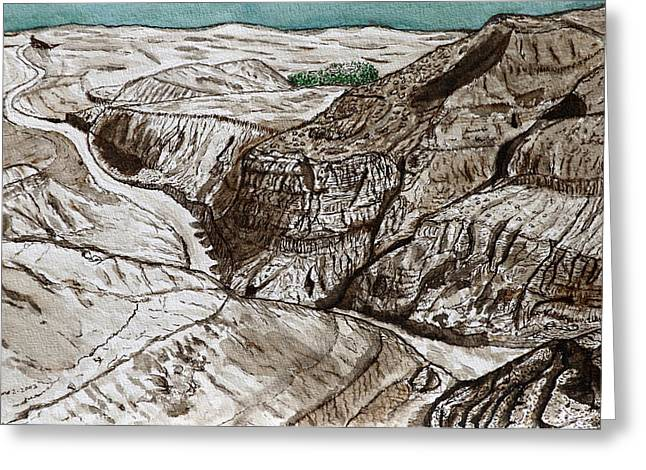 a view to the Dead Sea. Greeting Card by Shlomo Zangilevitch