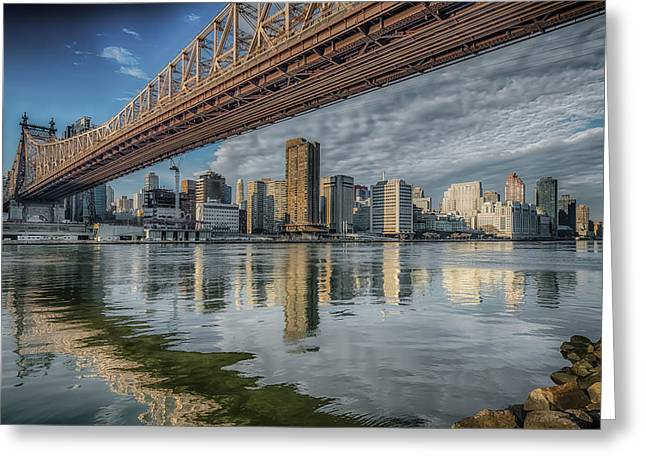 A View Under The Bridge Greeting Card by Linda Karlin