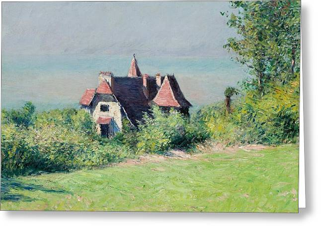 A Villa At Trouville Greeting Card by Gustave Caillebotte
