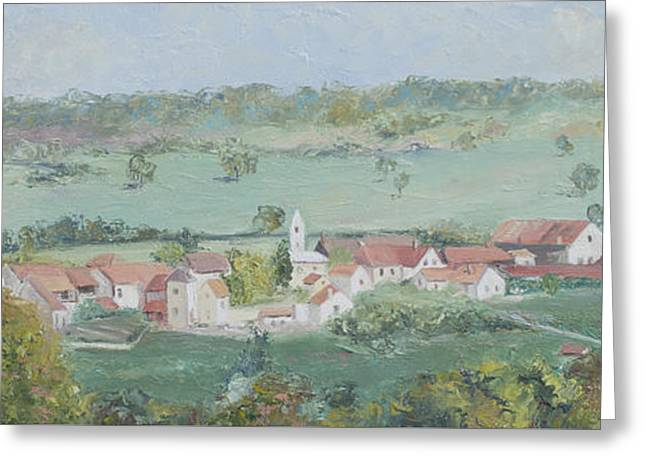 A Village In Provence France Greeting Card by Jan Matson