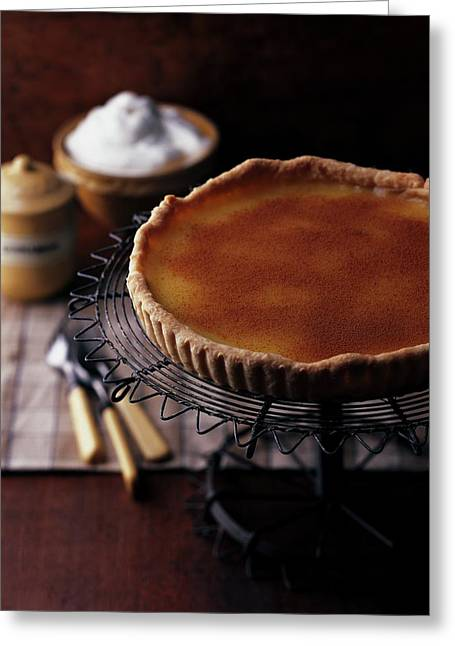A Vinegar Pie On A Wire Stand Greeting Card by Romulo Yanes
