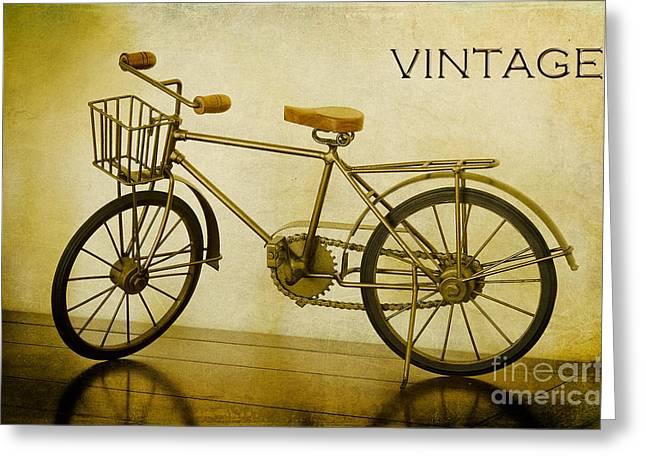 A Vintage Bike Greeting Card
