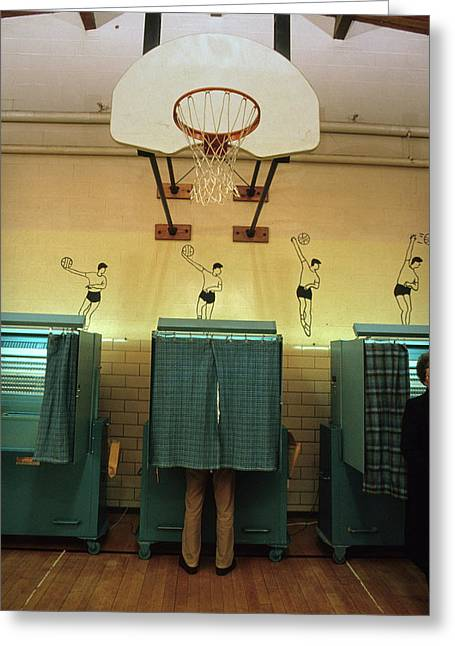 A Voting Booth In New Hampshire Greeting Card
