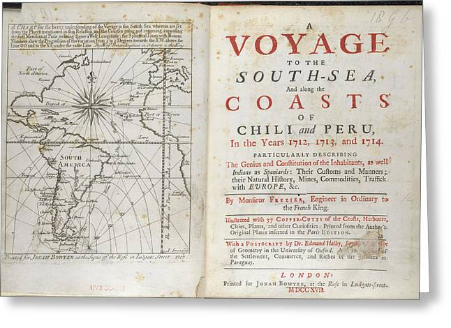 A Voyage To The South Sea Greeting Card